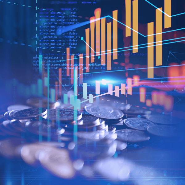 Dados e gráficos de representação financeira
