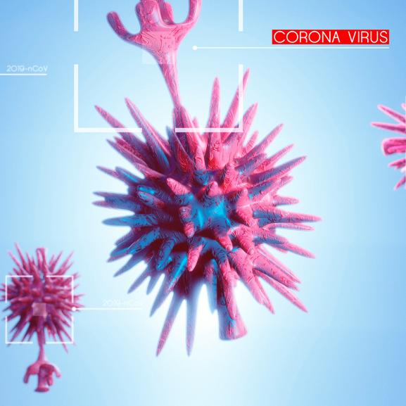 bacteria representando o corona vírus